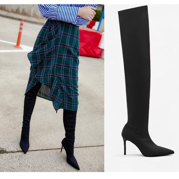 Mango Womens Over The Knee Heel Boots
